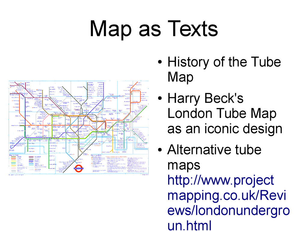 Map as Texts ● History of the Tube Map ● Harry ...