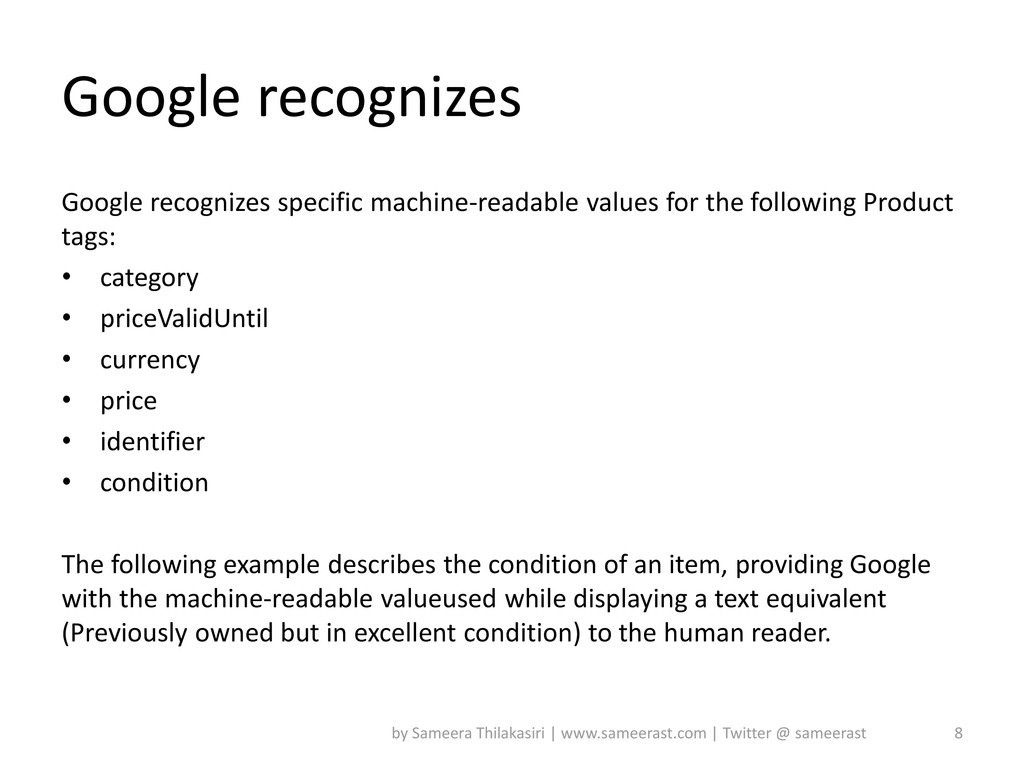 Google recognizes Google recognizes specific ma...