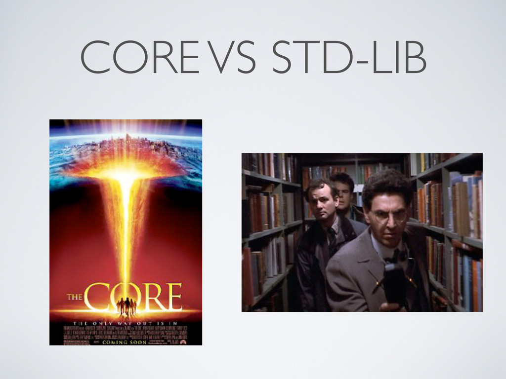 CORE VS STD-LIB