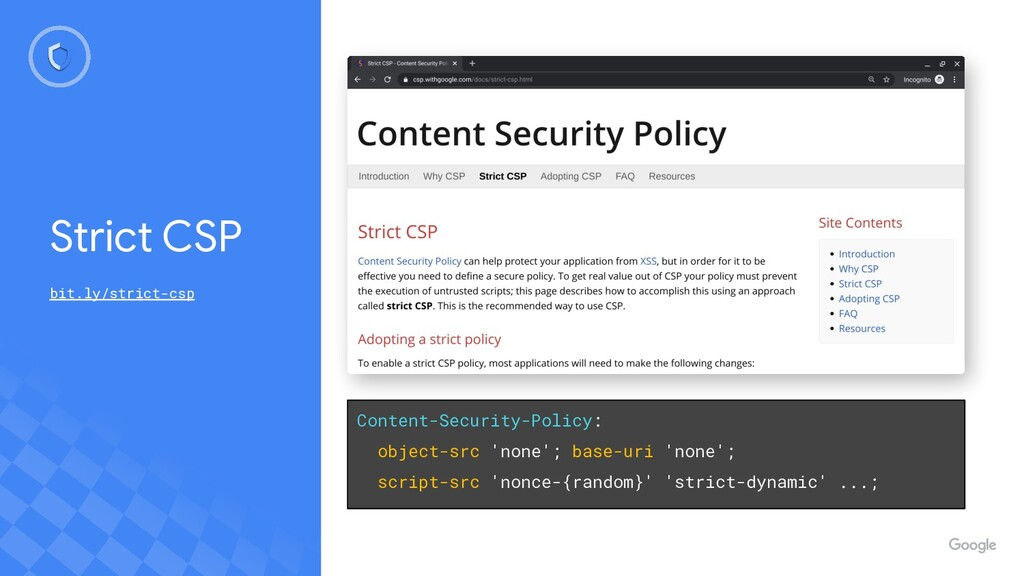 Content-Security-Policy: object-src 'none'; bas...