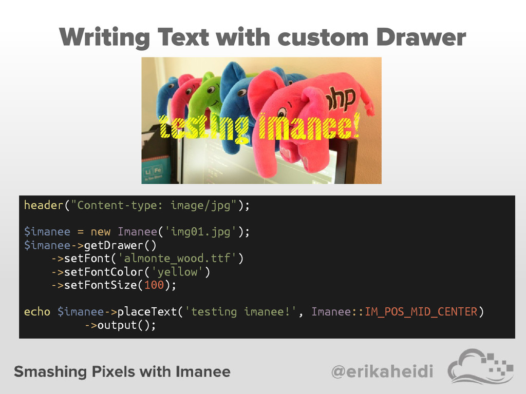 """Writing Text with custom Drawer header(""""Content..."""