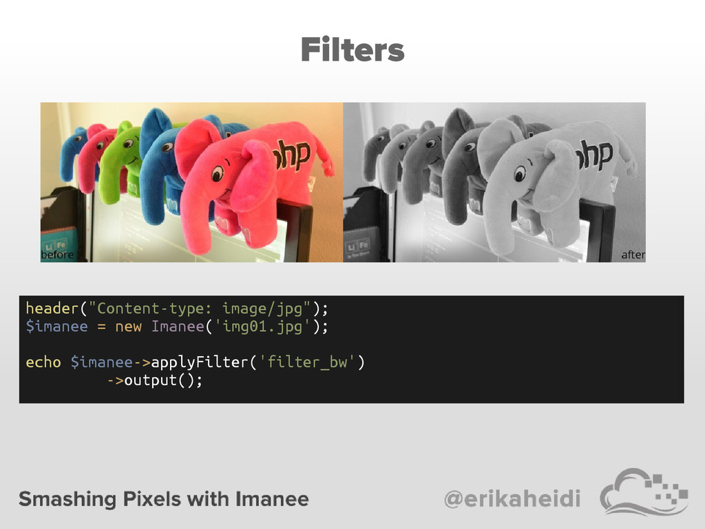 "Filters header(""Content-type: image/jpg""); $ima..."