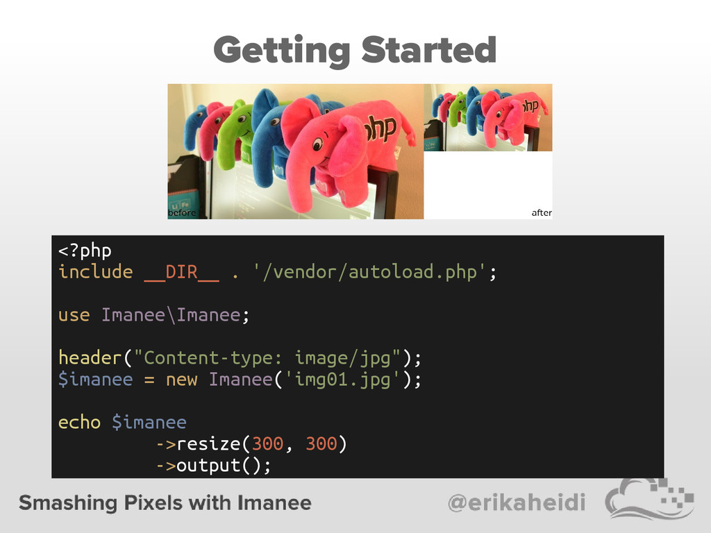 Getting Started <?php include __DIR__ . '/vendo...