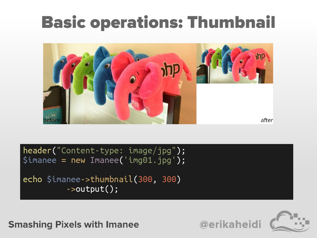 "Basic operations: Thumbnail header(""Content-typ..."
