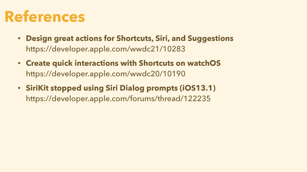 • Design great actions for Shortcuts, Siri, and...