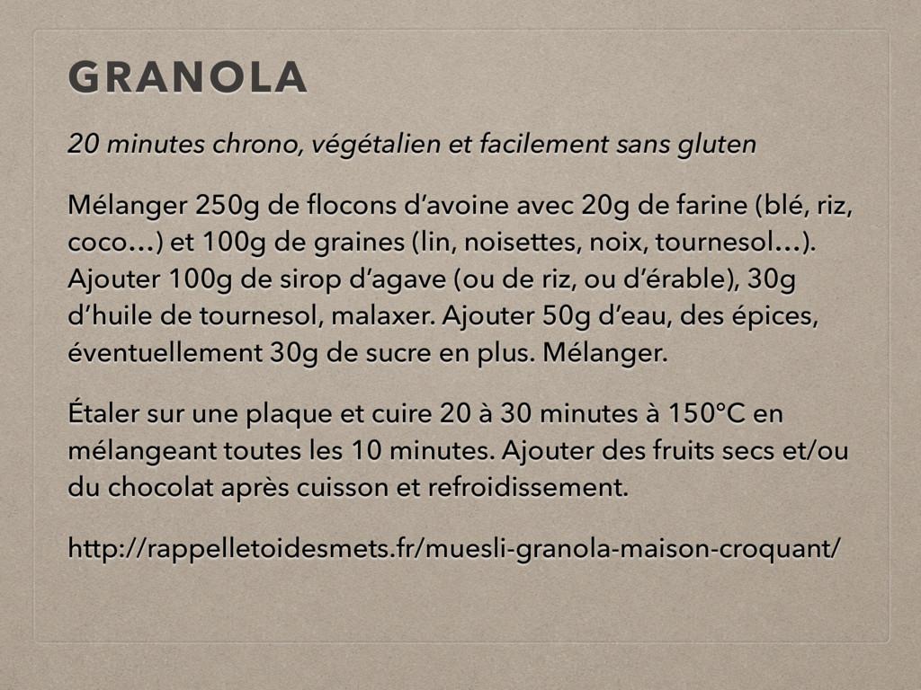 20 minutes chrono, végétalien et facilement san...