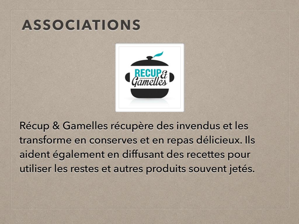 ASSOCIATIONS Récup & Gamelles récupère des inve...