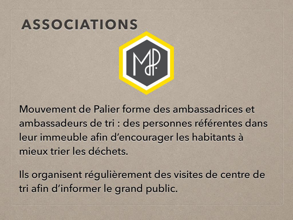 ASSOCIATIONS Mouvement de Palier forme des amba...