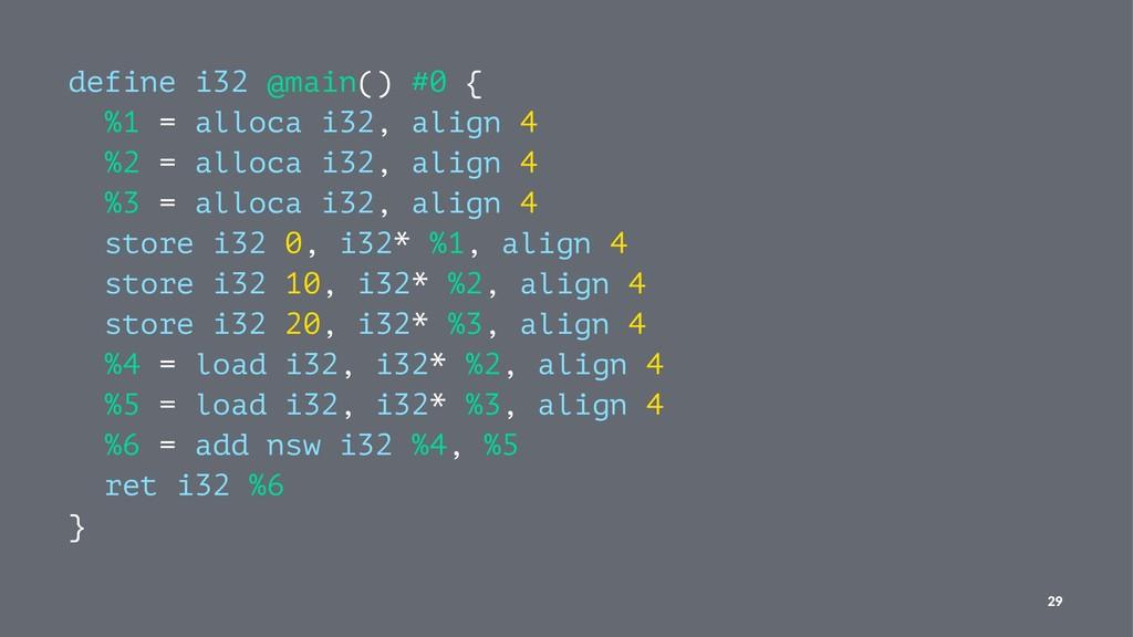define i32 @main() #0 { %1 = alloca i32, align ...