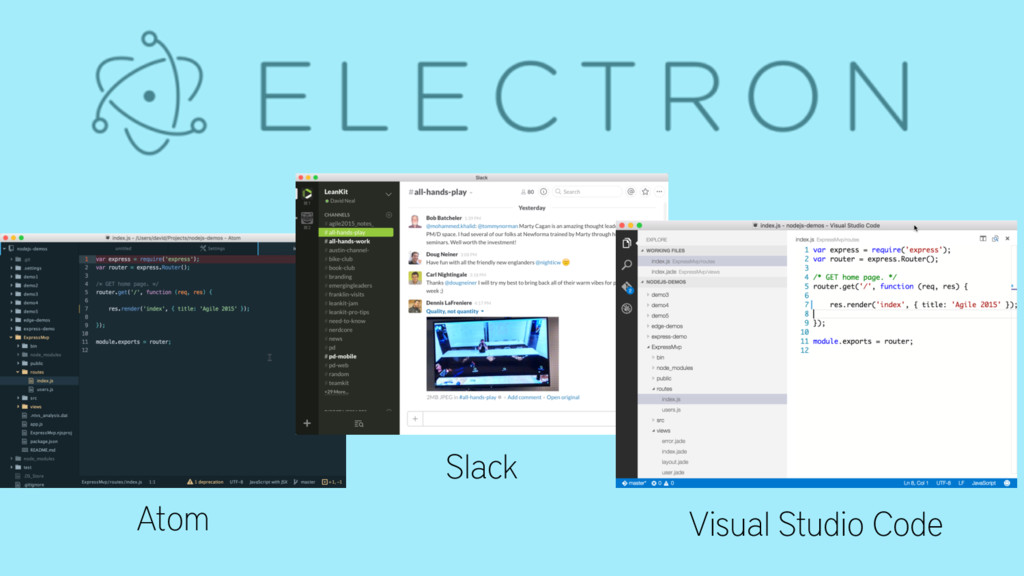 Atom Atom Slack Visual Studio Code