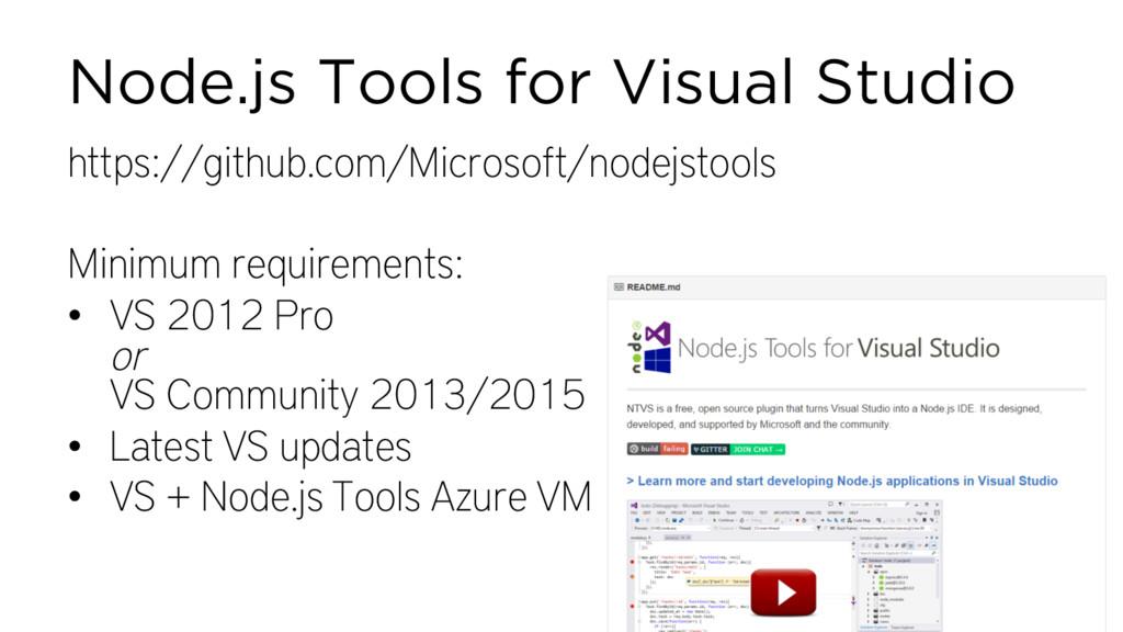 Node.js Tools for Visual Studio https://github....