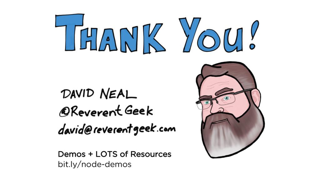 Demos + LOTS of Resources bit.ly/node-demos