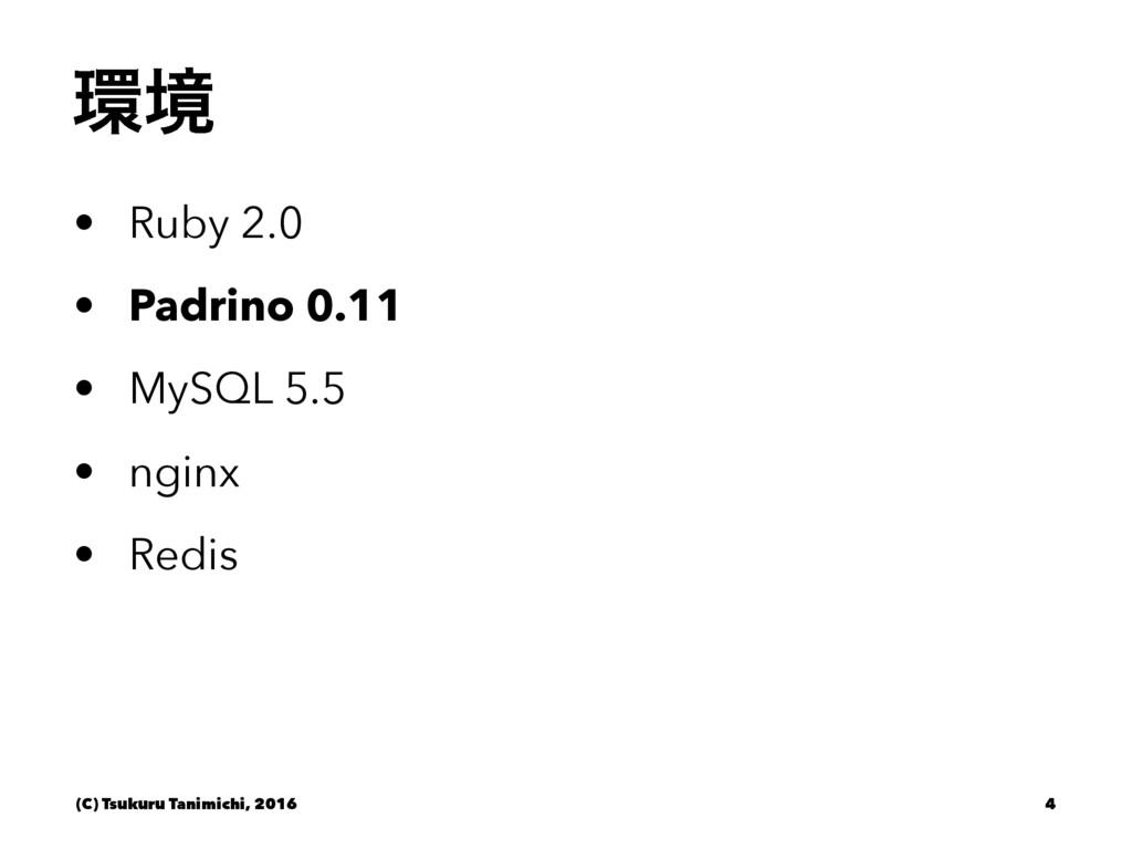 ڥ • Ruby 2.0 • Padrino 0.11 • MySQL 5.5 • ngin...