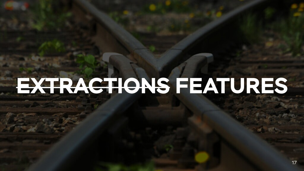 EXTRACTIONS FEATURES 17