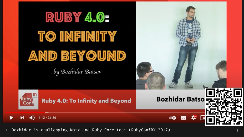 Bozhidar is challenging Matz and Ruby Core team...