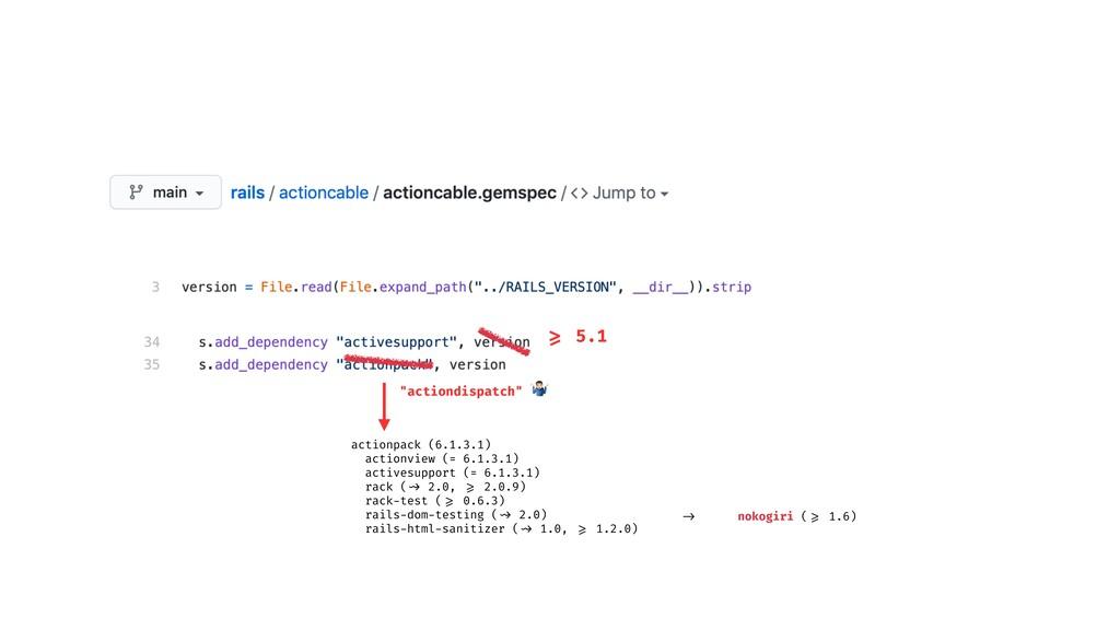 35 >= 5.1 -> nokogiri ( >= 1.6) actionpack (6.1...