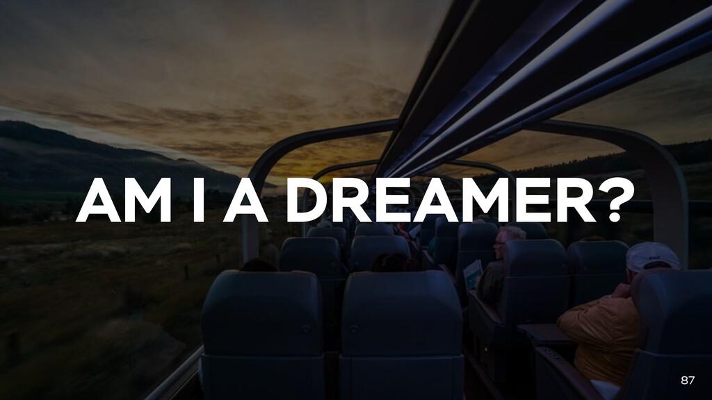 AM I A DREAMER? 87
