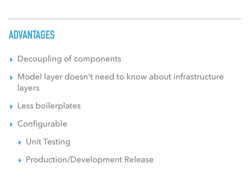 ADVANTAGES ▸ Decoupling of components ▸ Model l...