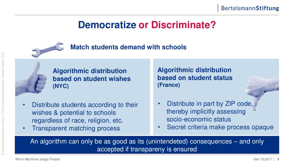 Democratize or Discriminate? Dec 10,2017 | When...