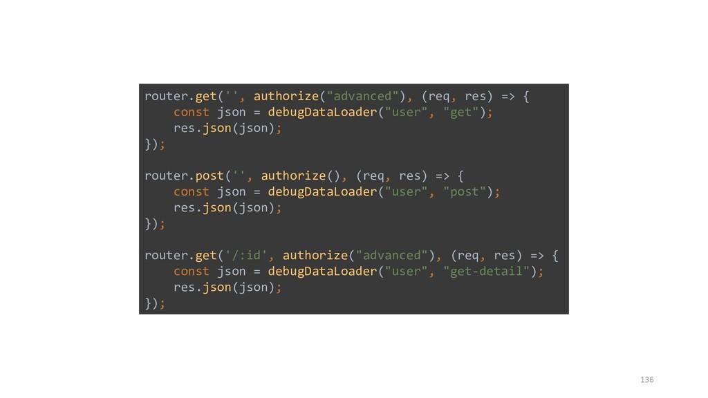 """136 router.get('', authorize(""""advanced""""), (req,..."""