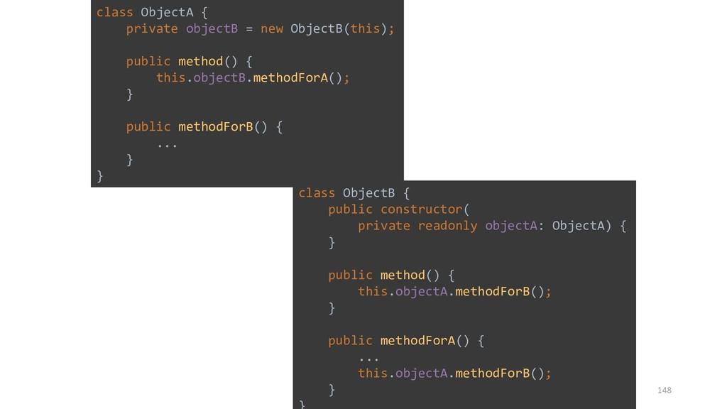 class ObjectA { private objectB = new ObjectB(t...