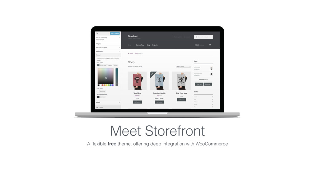 Meet Storefront A flexible free theme, offering ...