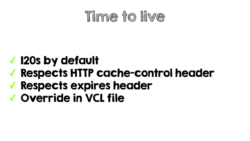✓ 120s by default ✓ Respects HTTP cache-control...