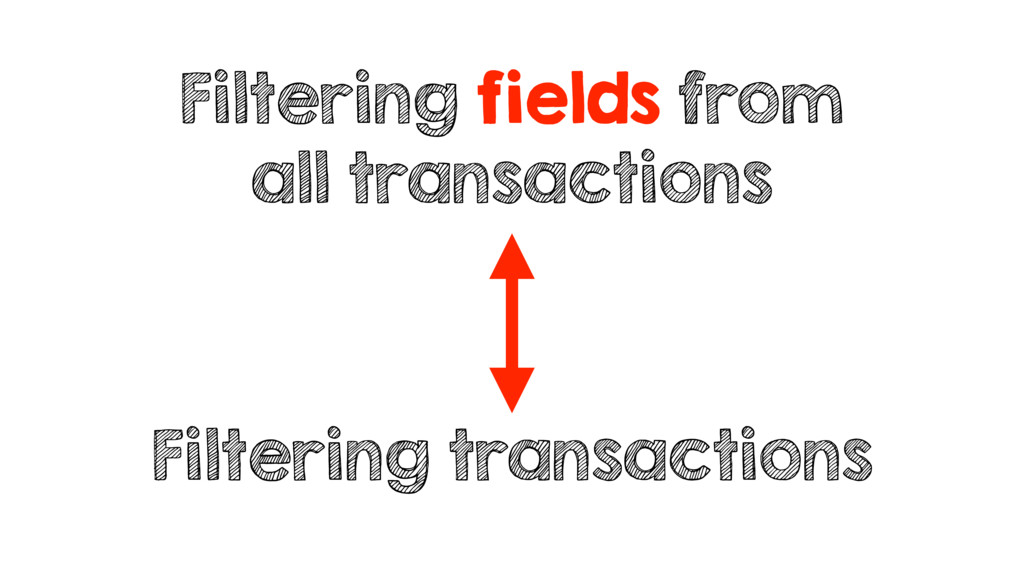 Filtering fields from all transactions Filterin...