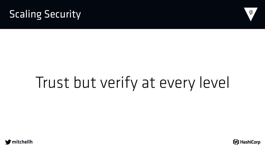  Scaling Security Trust but verify at every le...