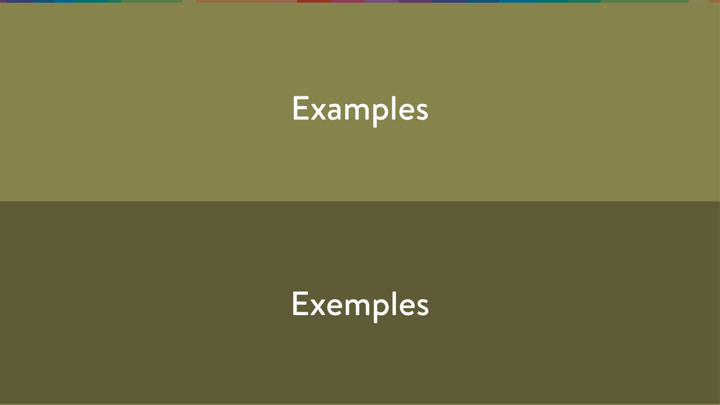 Examples Exemples