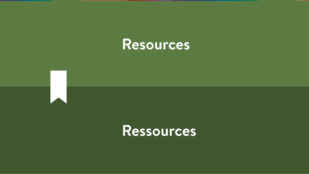 Resources Ressources