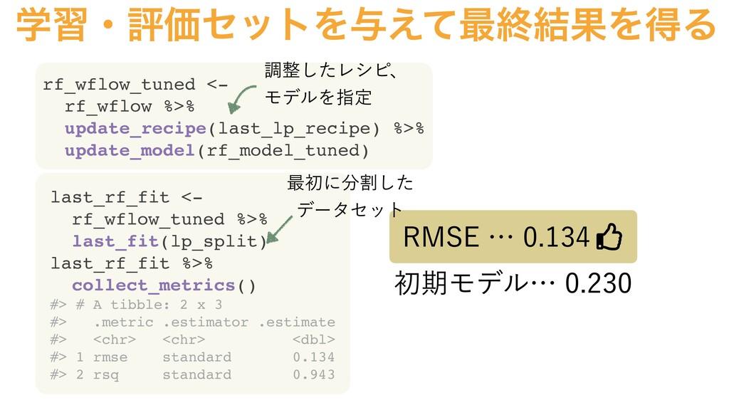 ֶशɾධՁηοτΛ༩͑ͯ࠷ऴ݁ՌΛಘΔ last_rf_fit <- rf_wflow_tun...