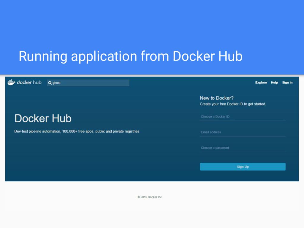 Running application from Docker Hub