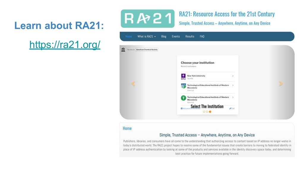 Learn about RA21: https://ra21.org/