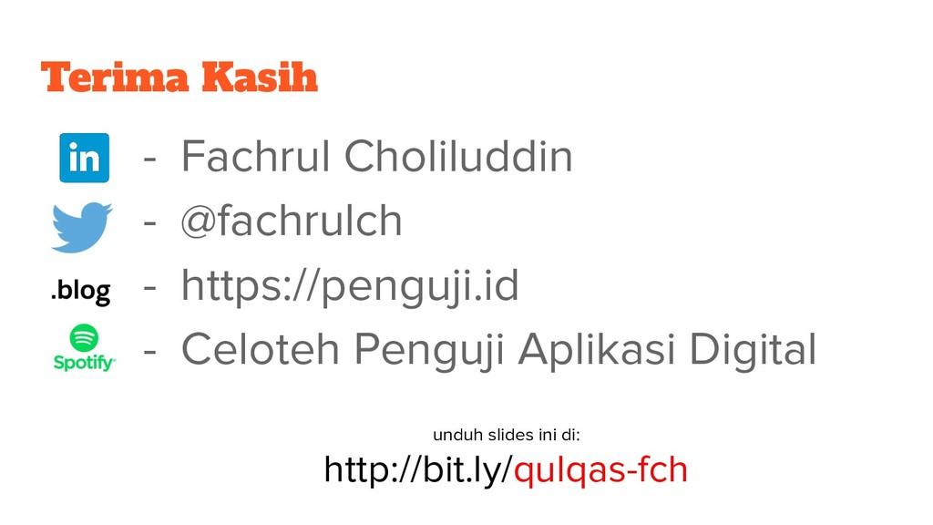 Terima Kasih - Fachrul Choliluddin - @fachrulch...