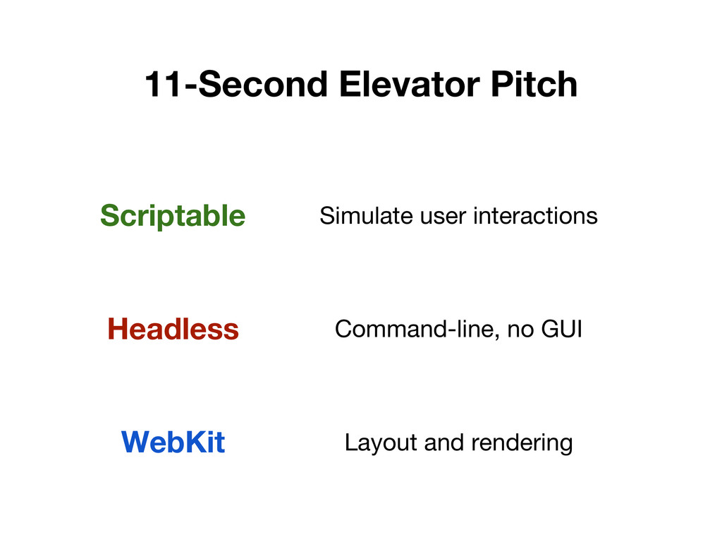 11-Second Elevator Pitch Scriptable Simulate us...