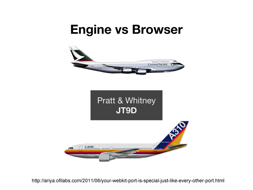 Engine vs Browser Pratt & Whitney JT9D http://a...