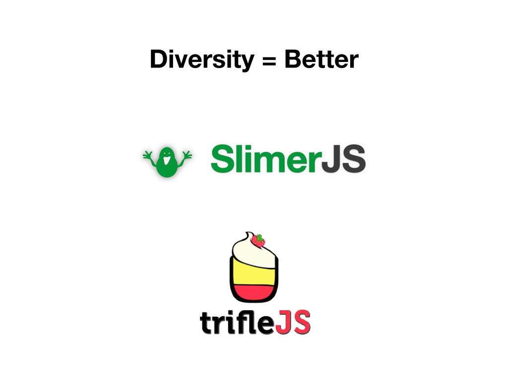 Diversity = Better