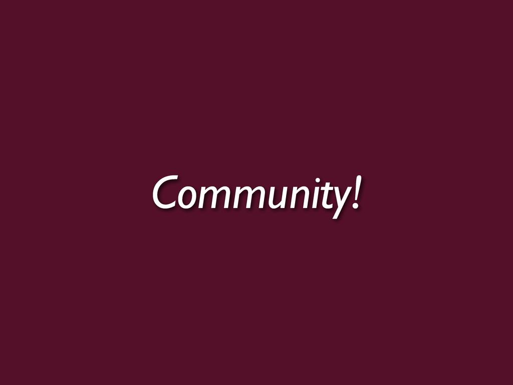 Community!