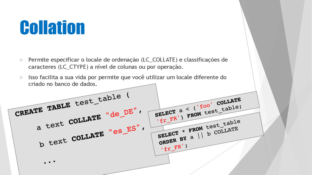 u Permite especificar o locale de ordenação (LC...
