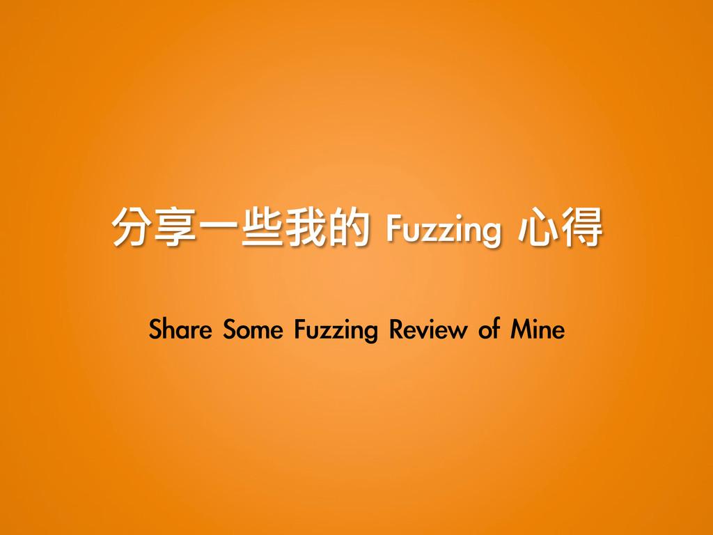 分享一些我的 Fuzzing 心得 Share Some Fuzzing Revi...