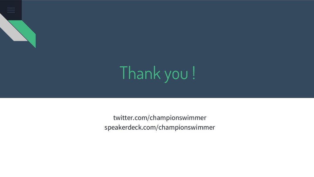 Thank you ! twitter.com/championswimmer speaker...