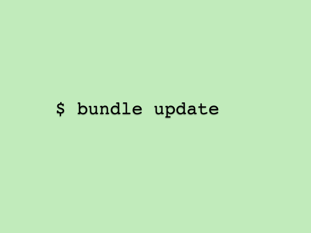$ bundle update