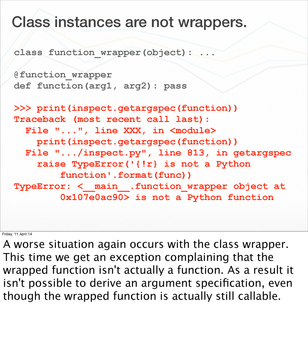 Class instances are not wrappers. class functio...