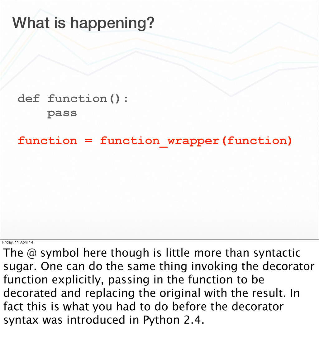 What is happening? def function(): pass functio...