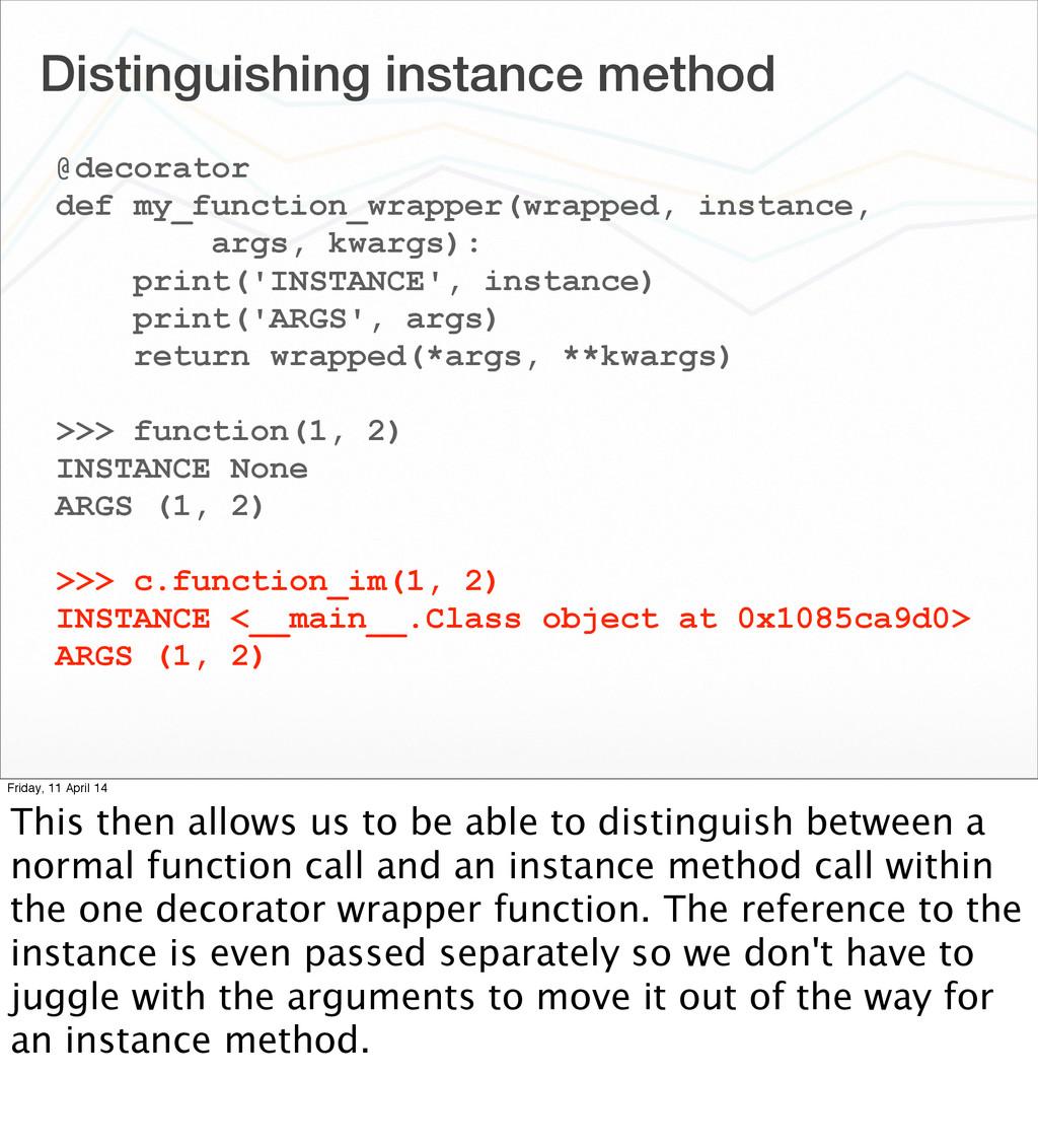 Distinguishing instance method @decorator def m...