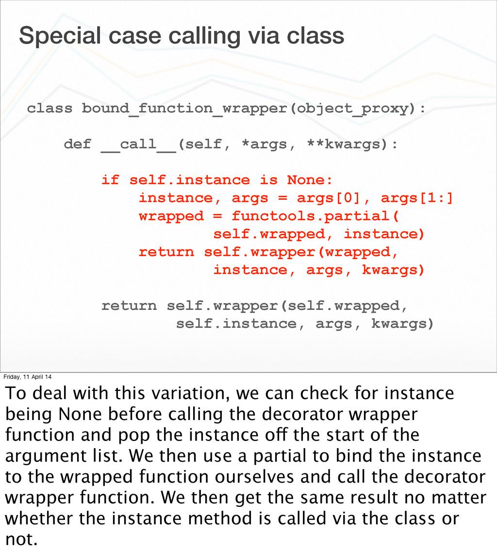 Special case calling via class class bound_func...