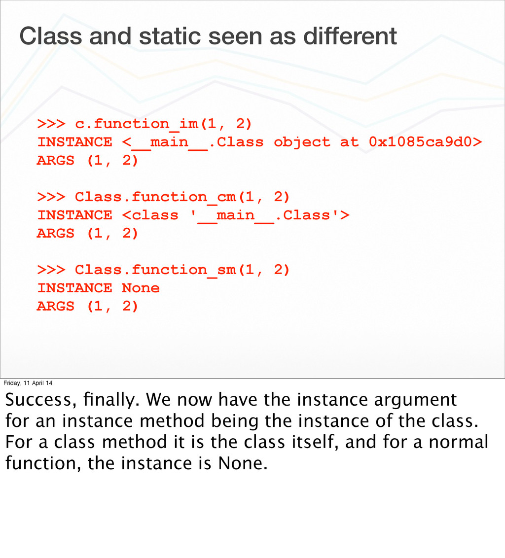Class and static seen as different >>> c.functi...