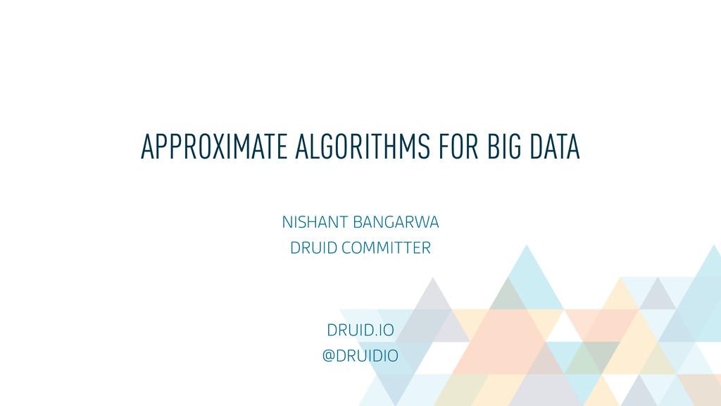 APPROXIMATE ALGORITHMS FOR BIG DATA NISHANT BA...